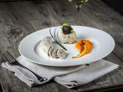 boudin blanc carotte risotto