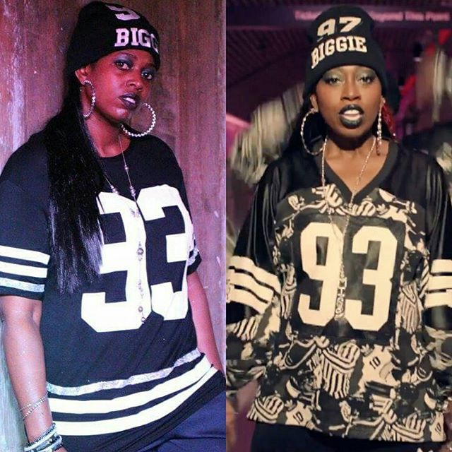 OMG #WTF Are you seeing double 😅😅😅 nah it's just _melly_elliott & #missyelliott #lookalike #adida