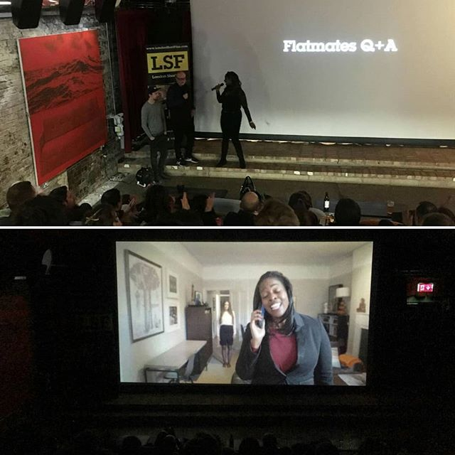 #throwbackthursday back to Tues 😂😂was funny doing the qna at #LondonShortFilm for a film I am in!!