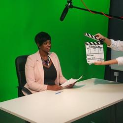 Just wrapped on set! #actress #newsreporter #thegreedypigshow #film #actorslife
