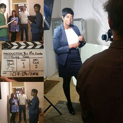 Pics from #film set yesterday #actress  #estateagent #actorslife #filming #Thisonefamily #picoftheda
