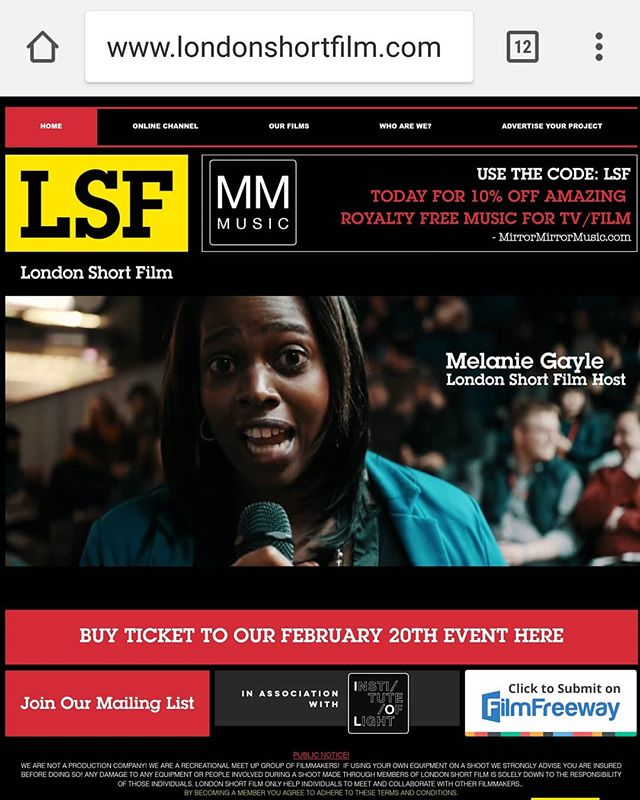 Date for diary 20th February I'm back #hosting #London #ShortFilm presents #networking event with #F