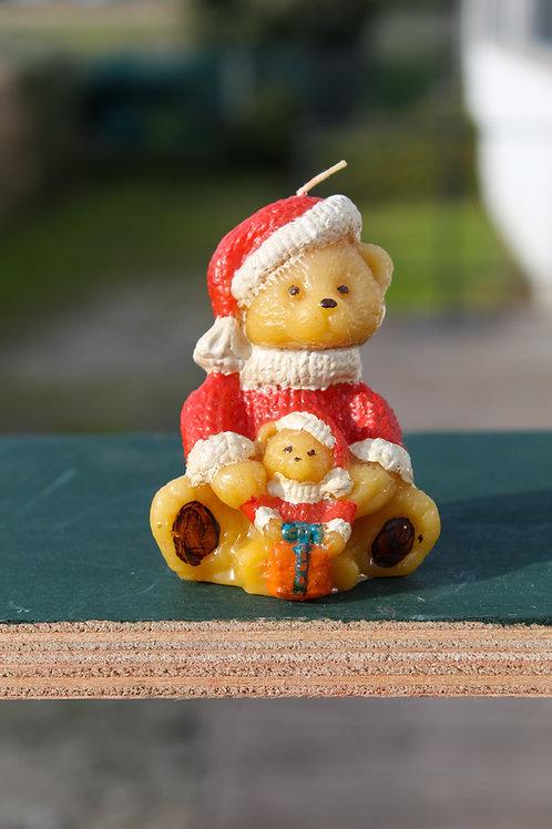Bougie Ours de Noël