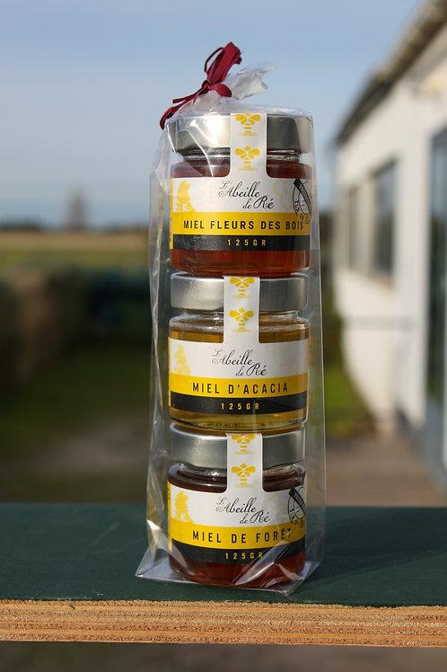 Trio de miel liquide - 3 x 125Gr
