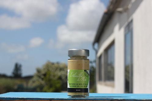 Moutarde  au miel et à la salicorne de l'ile de ré - 90gr