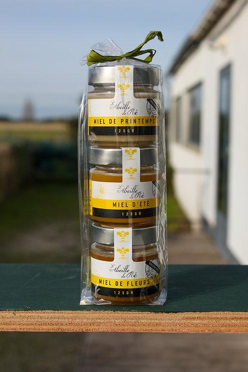 Trio de miel crémeux - 3x125Gr