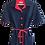 Thumbnail: Robe Lacoste 1960 Bleu Marine et Rouge