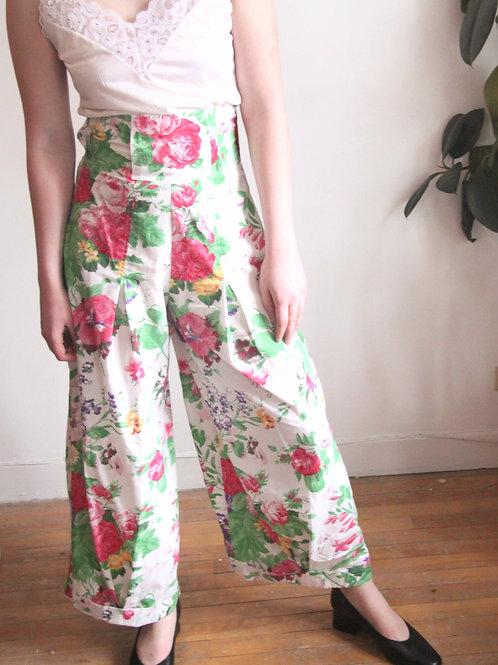 Pantalon Fleuri Jambe Large
