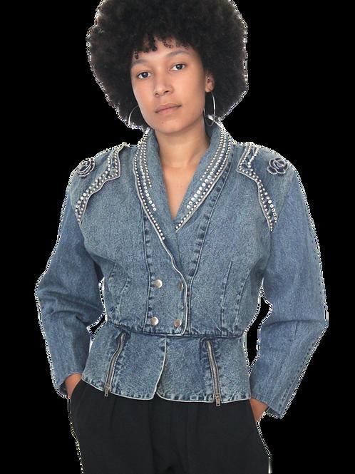 Vintage 80's Jacket Jeans Breloque