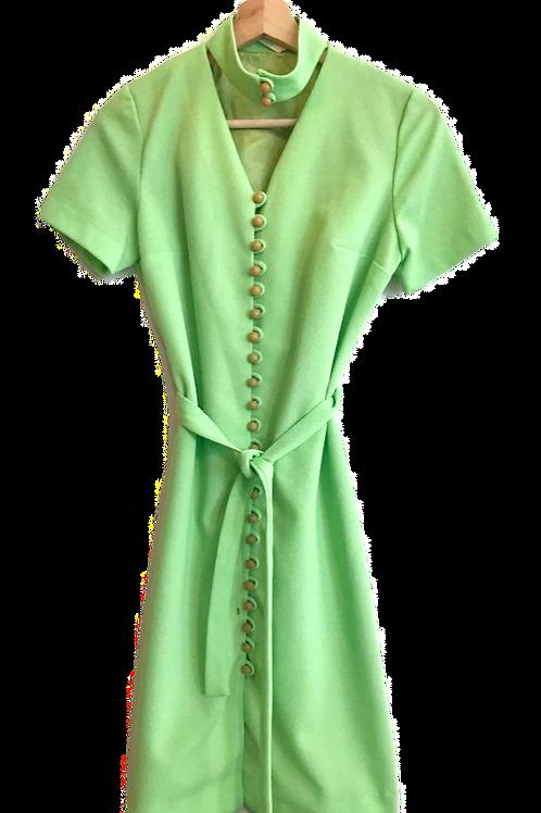 Robe 60's Vert Néon