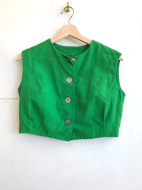 Crop 50's Coton vert lime