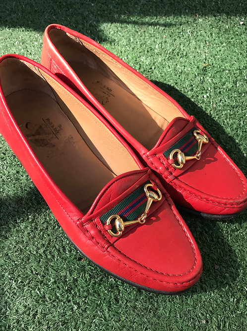 Loafer rouge Cuir Italien size  7