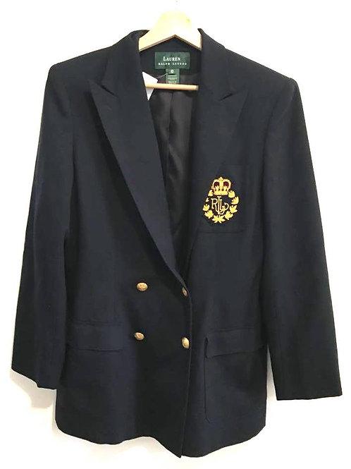 Veston Vintage /Bleu Marine/ Ralph Lauren/ 100% Laine