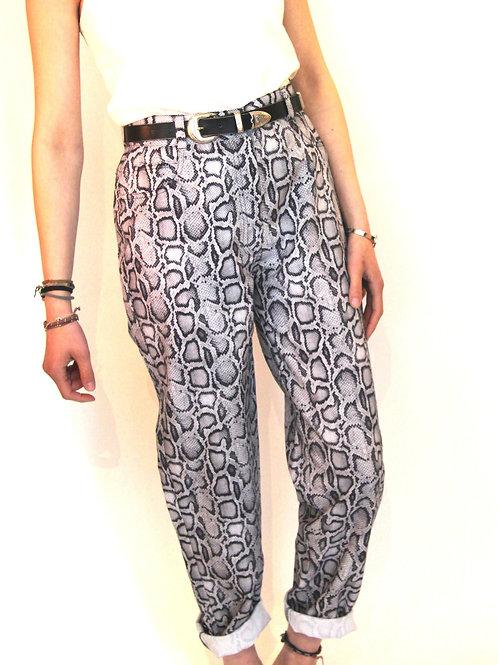 Vintage 90's Pantalon motifs Serpent -M-