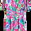 Thumbnail: Robe Fushia Motifs Fleurs