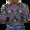 Thumbnail: Vintage 90's Veste à motifs matelassé 100% soie