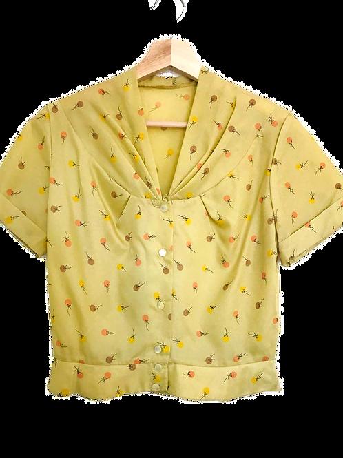 Vintage 50's Chemise jaune or