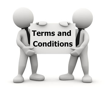 Holding a sign Terms and Conditions