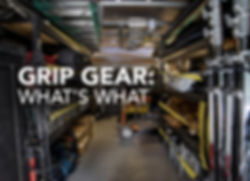 production grip gear explained