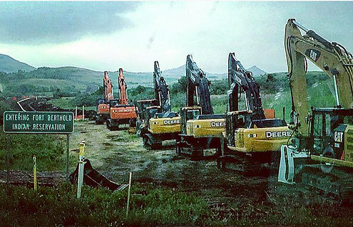 Pipeline Constructon, Fort Berthold Indian Reservation