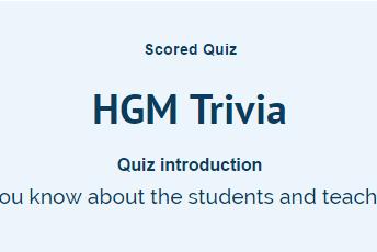 Take the HGM Trivia Quiz!