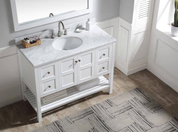 48 in. W Designer Bath Vanity in White w