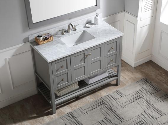 48 in. W Designer Bath Vanity in Grey wi