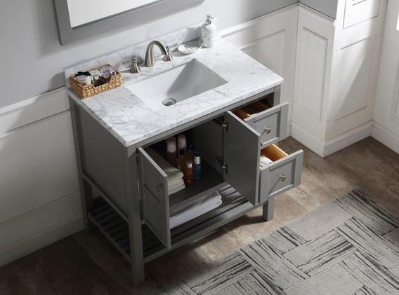 36 in. W Designer Bath Vanity in Grey wi