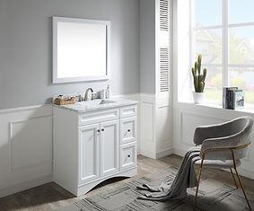 36 in. W Designer Bath Vanity in White w