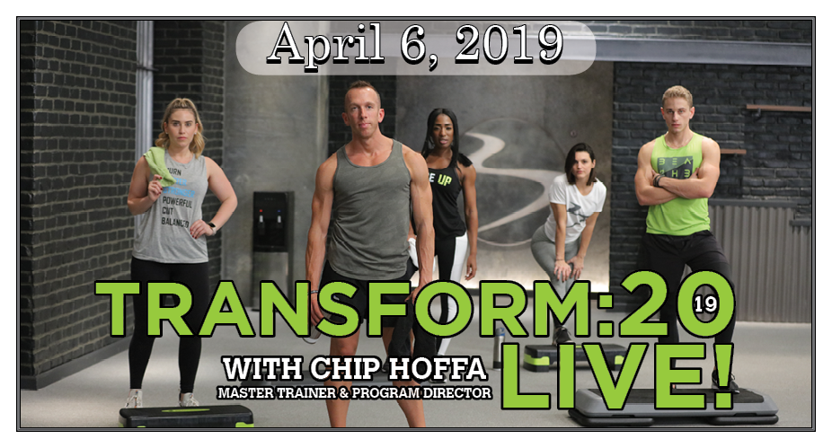 Save the Date Transform 20 Event Banner.