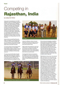 Endurance GB magazine article 2009