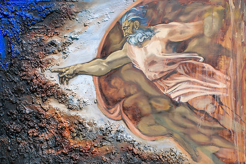 The Creation of Adam (diptych 2/2)