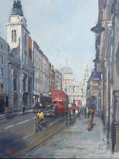 Ludgate Hill with St Pauls Cathedral