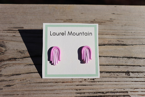 Pink Gradient Arch Earrings