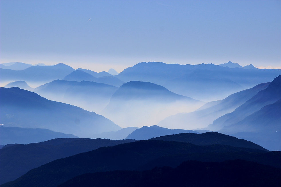 panoramic vista of mountains