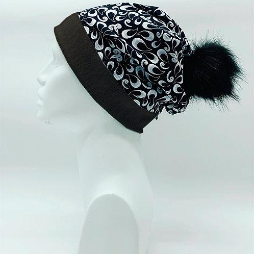 Bamboo / Merino Wool Winter Pom Hat 168