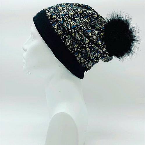 Bamboo / Merino Wool Winter Pom Hat 194