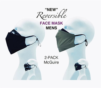 'NEW' Mens Bamboo/Cotton Masks Packed 2 McGuire