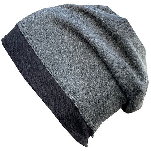 Bamboo Jersey Reversible Toque Grey