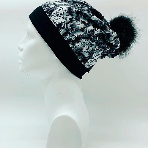 Bamboo / Merino Wool Winter Pom Hat 173