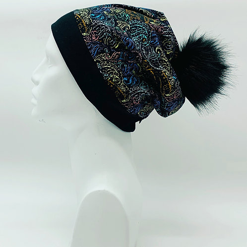 Bamboo / Merino Wool Winter Pom Hat 196