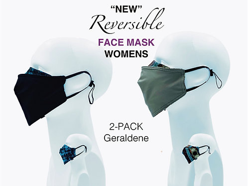 'NEW' Women's Bamboo/Cotton Masks Packed 2 Geraldine