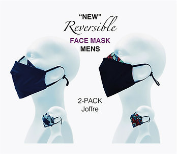 'NEW' Mens Bamboo/Cotton Masks Packed 2 Joffre