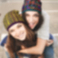 best friends sporting Watuko Headgear Slouch Hats