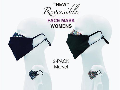 'NEW' Women's Bamboo/Cotton Masks Packed 2 Marvel