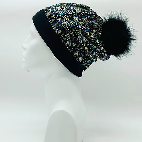 Bamboo / Merino Wool Winter Pom Hat 194