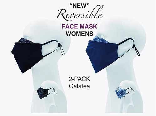 'NEW' Women's Bamboo/Cotton Masks Packed 2 Galatea
