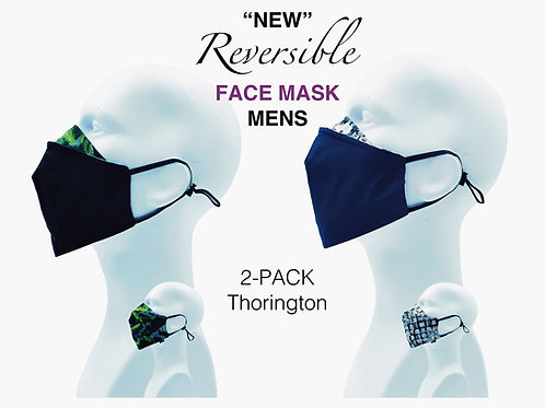 'NEW' Mens Bamboo/Cotton Masks Packed 2 Thorington