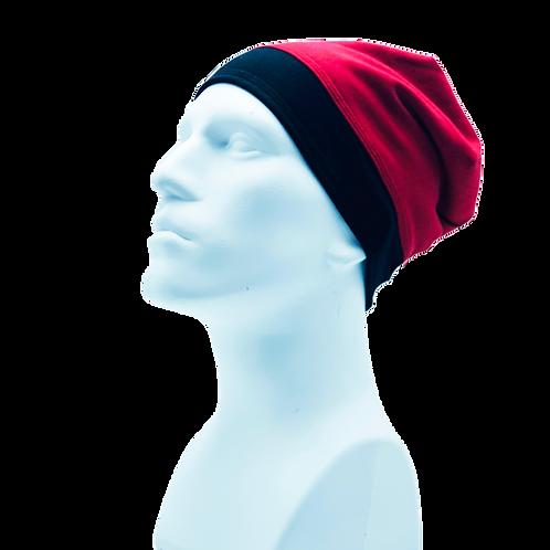 Bamboo/Merino Wool Jersey Reversible Toque Red