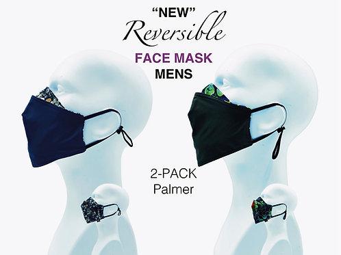 'NEW' Mens Bamboo/Cotton Masks Packed 2 Palmer